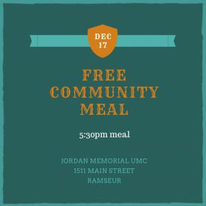 December Community Meal